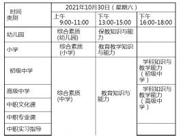 师大在线广东省2021年下半年中小学教师资格考试笔试公告